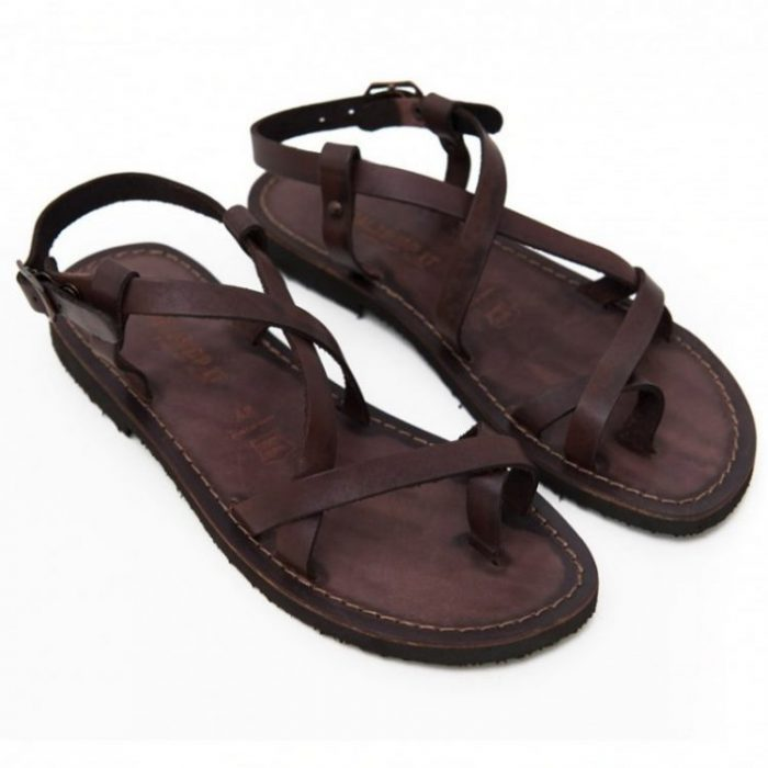 Sandalo chiuso dietro Melpignano marrone da donna