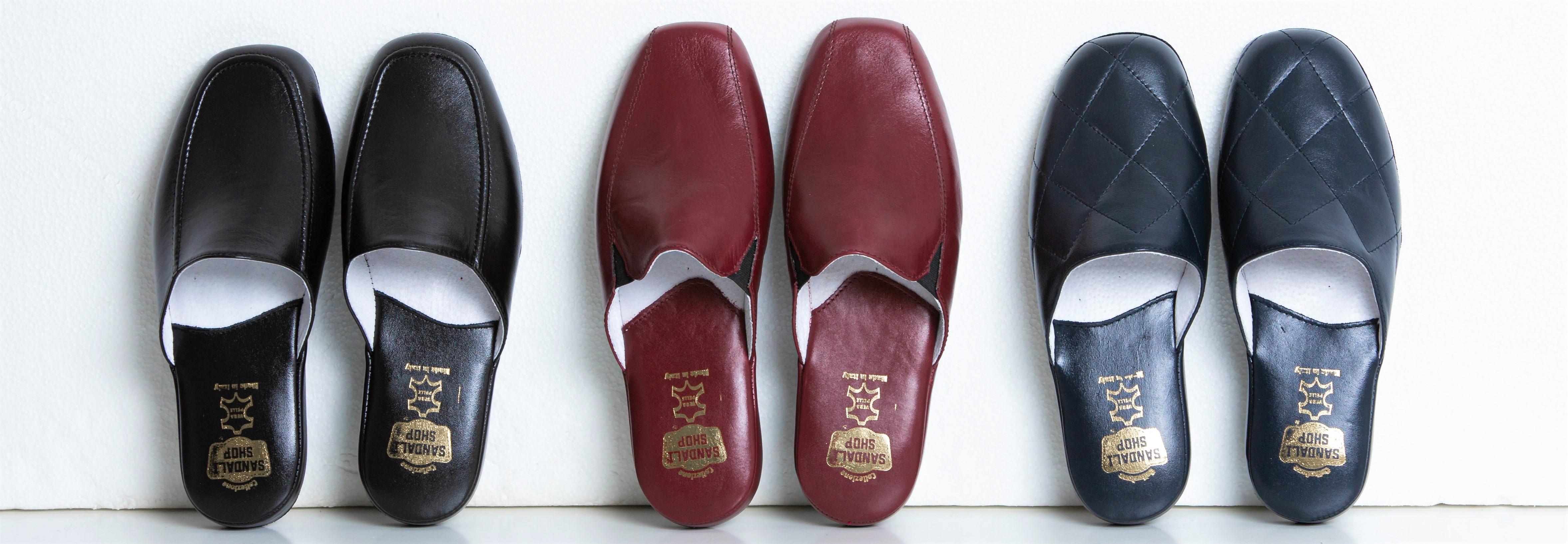Pantofole Uomo Pelle