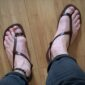 handmade_leather_sandals_for_mens_PHILIPPE_MAUREAU_FANS_BROWN