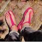sandali fucsia da uomo in vera pelle