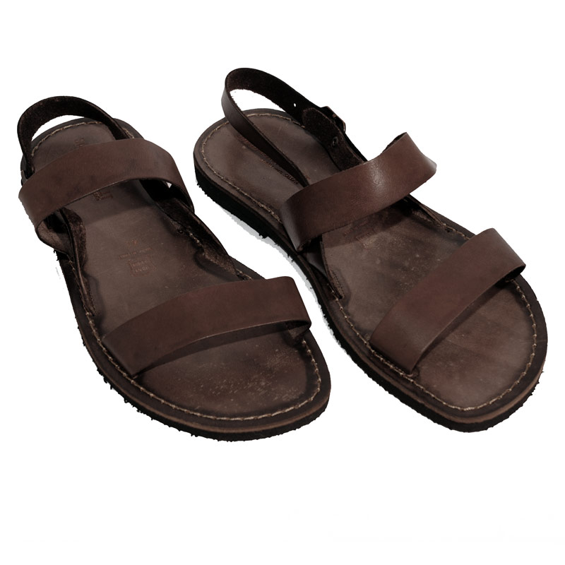 Sandalo chiuso dietro Classico marrone da uomo