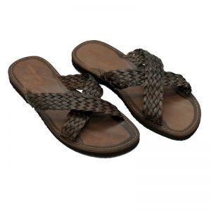 Sandalo ciabatta Vintage marrone da uomo