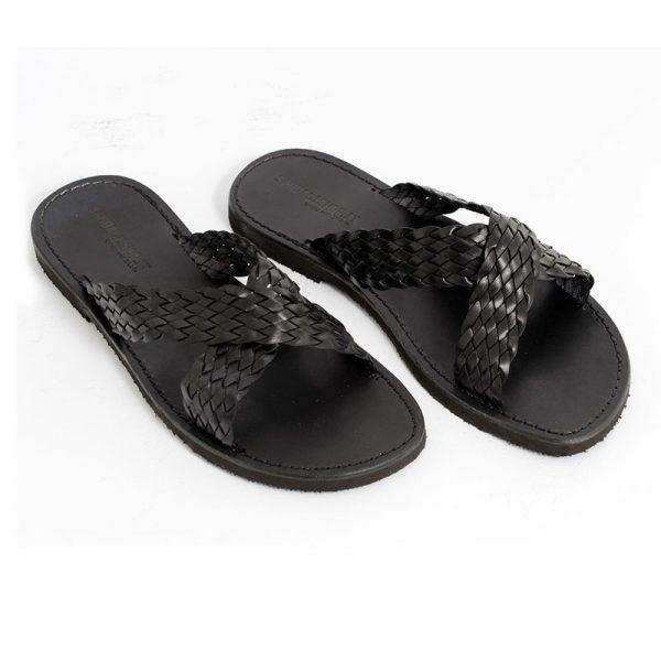 Sandalo ciabatta Vintage nero da uomo