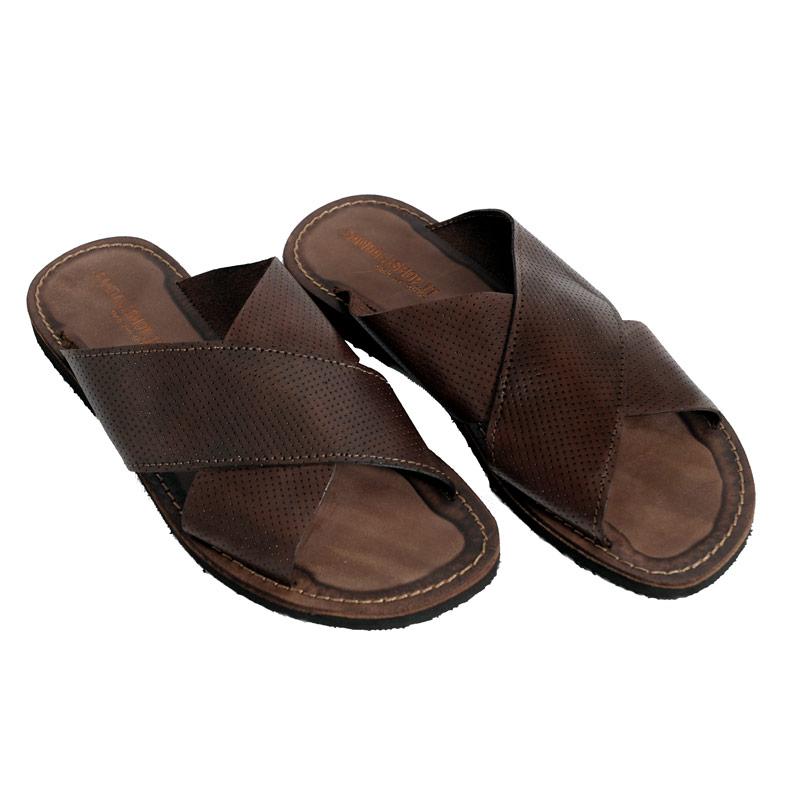 Sandalo ciabatta X marrone da uomo