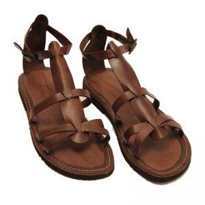 Sandalo gladiatore Milano marrone da donna