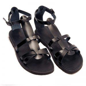 Sandalo gladiatore Milano nero da donna