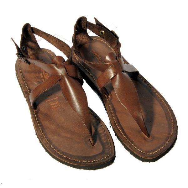 Sandalo gladiatore Roma marrone da donna