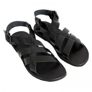 Sandalo gladiatore Outdoor nero da uomo