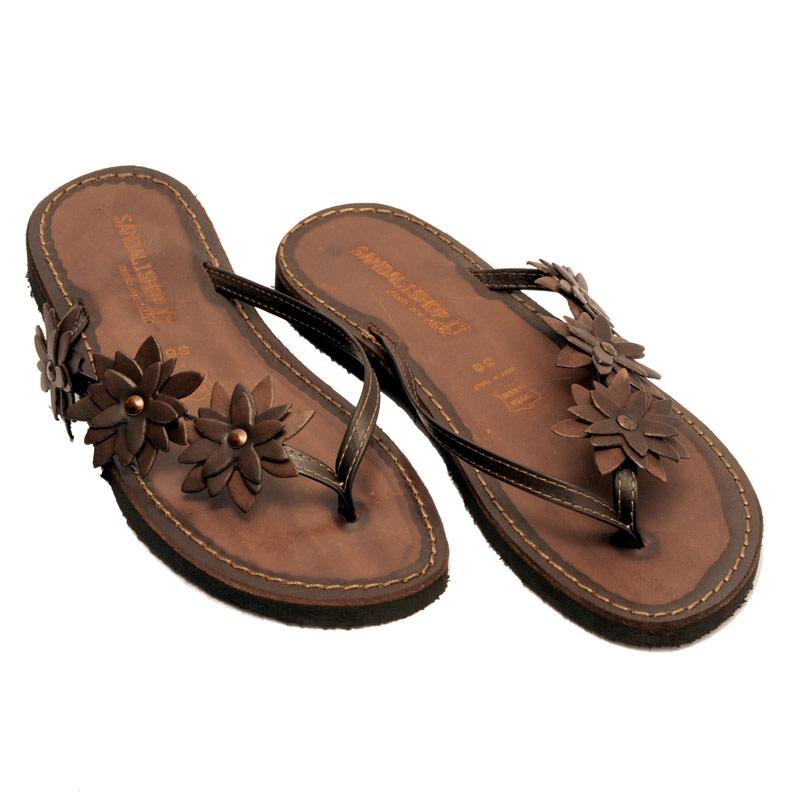 Sandalo infradito Bologna marrone da donna