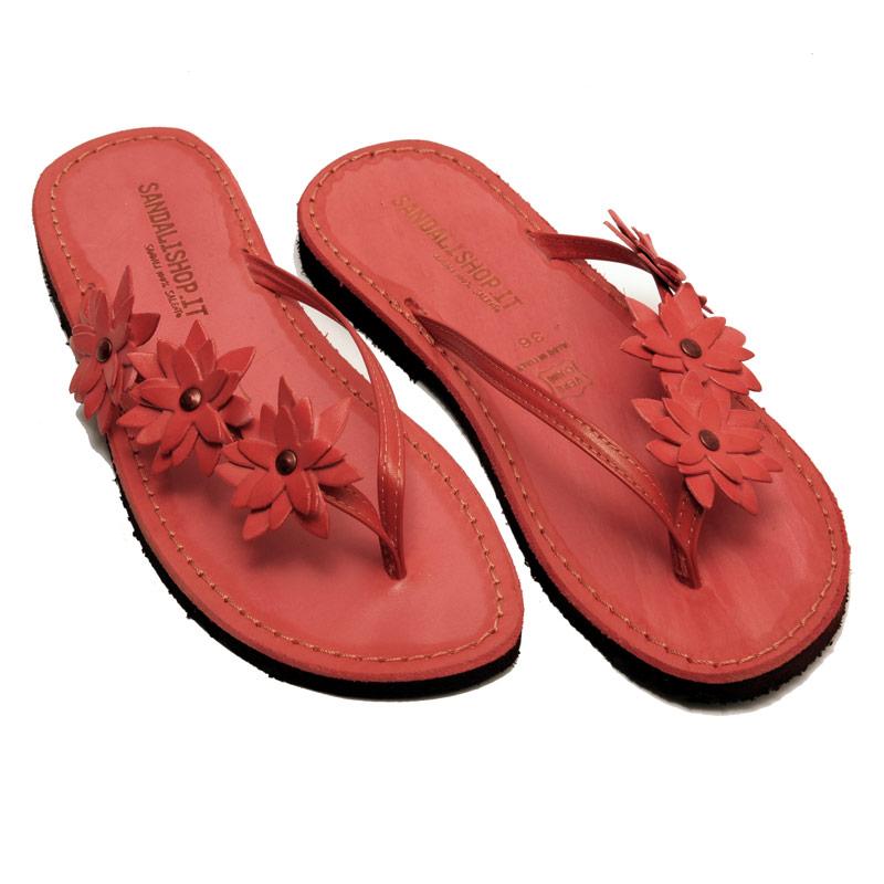 Sandalo infradito Bologna rosso da donna