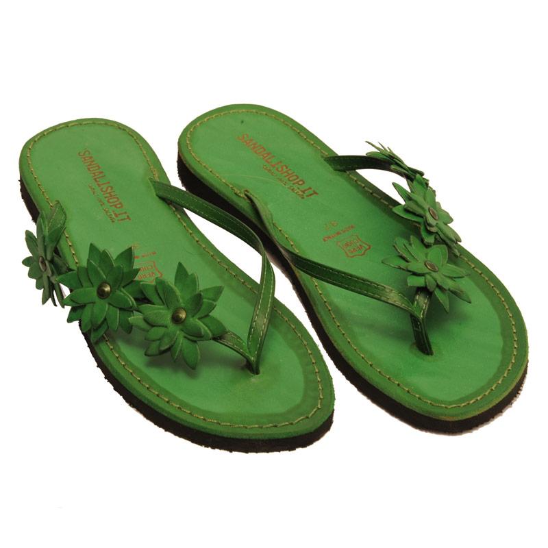 Sandalo infradito Bologna verde da donna