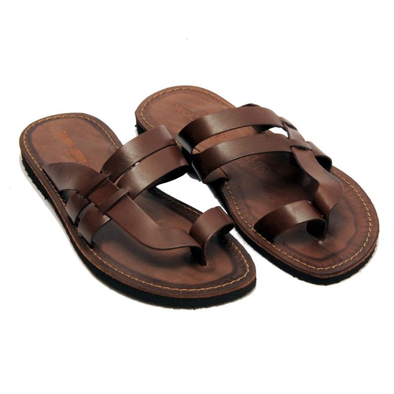 Sandalo infradito Etnico marrone da uomo