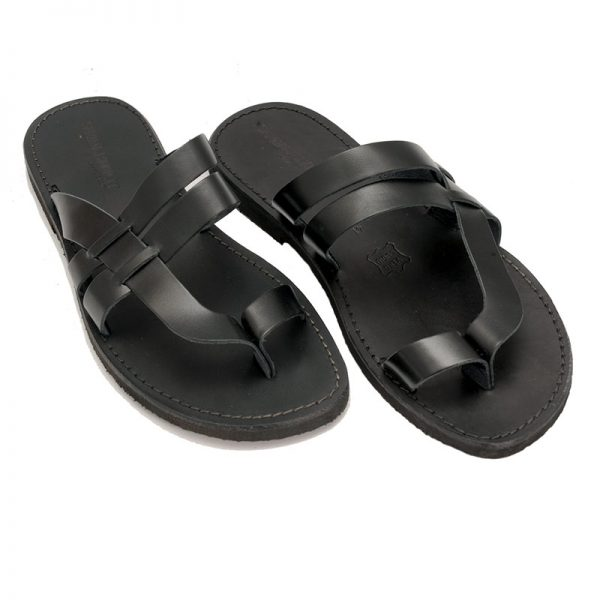 Men's Etnico Thong sandals in Black