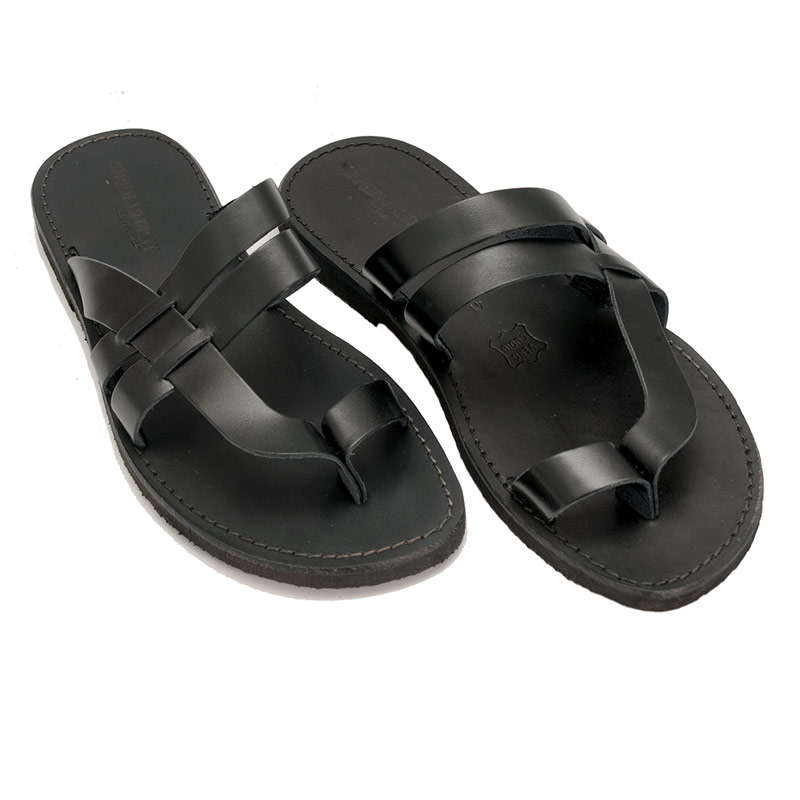 Sandalo infradito Etnico nero da uomo