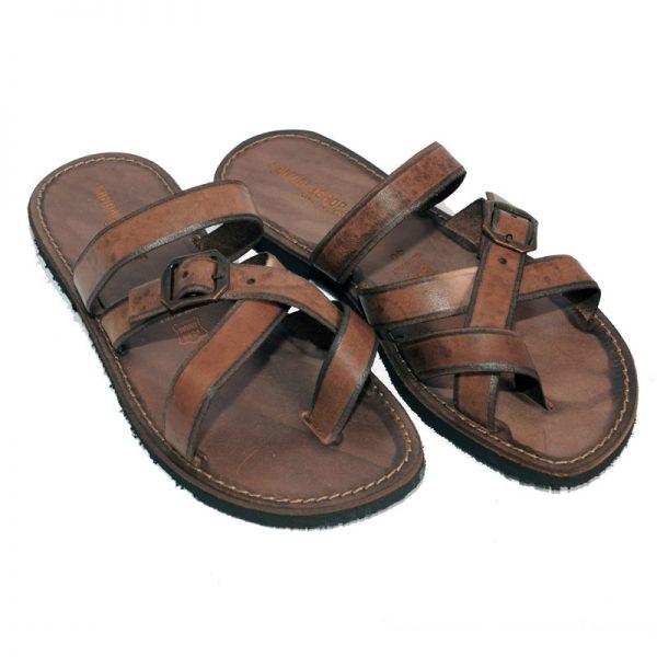 Sandalo infradito Line marrone da uomo