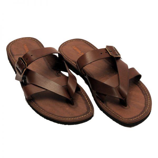 Sandalo infradito Moda marrone da uomo