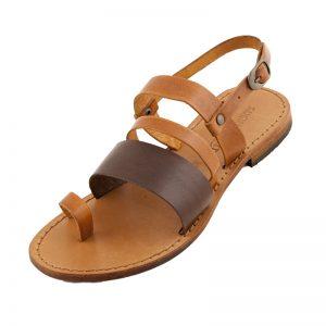 Sandalo chiuso dietro Allure cognac da donna
