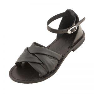 Sandalo chiuso dietro Appan nero da donna