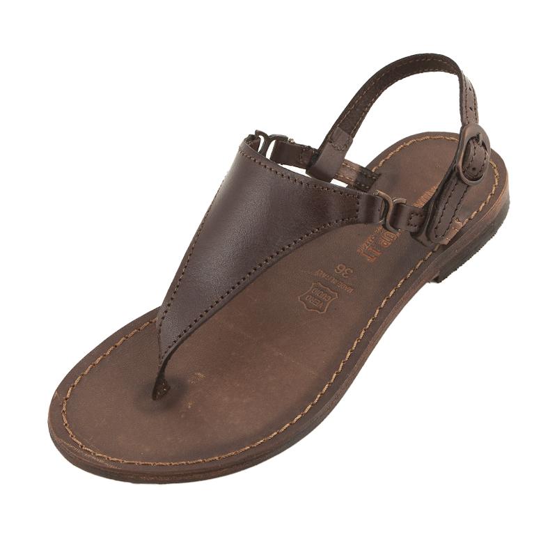 Sandalo chiuso dietro Bikini marrone da donna