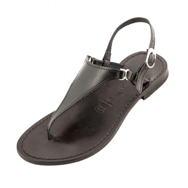 Women's Bikini Strappy sandals in Black