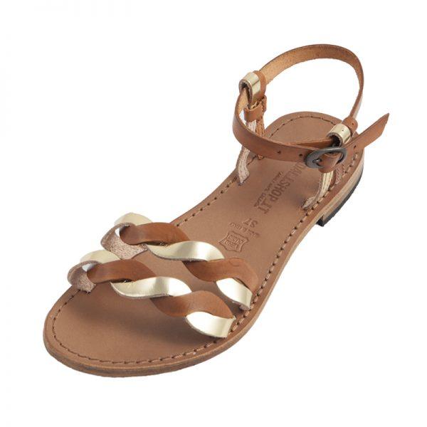 Sandalo chiuso dietro Dorotea cognac da donna