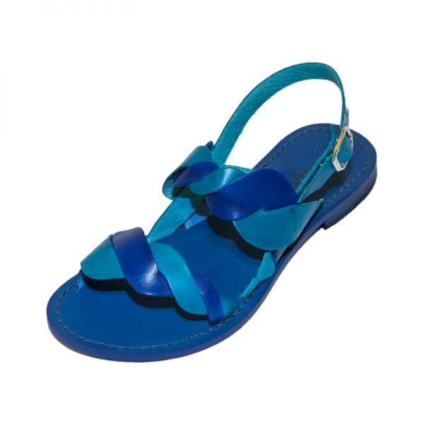 Sandalo chiuso dietro Acaya blu turchese da donna
