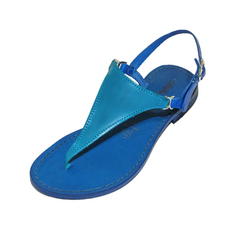 Sandalo chiuso dietro Bikini blu turchese da donna