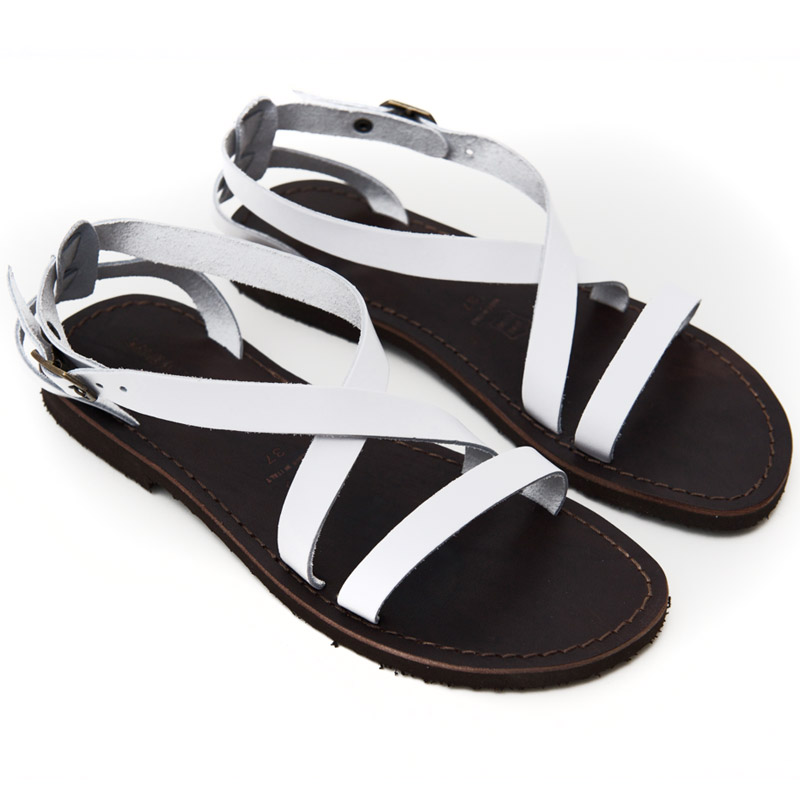 Sandalo chiuso dietro Cisternino bianco da donna