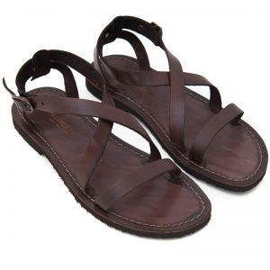 Sandalo chiuso dietro Cisternino marrone da donna