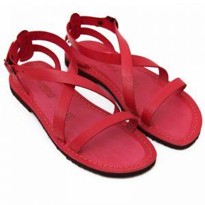 Sandalo chiuso dietro Cisternino rosso da donna