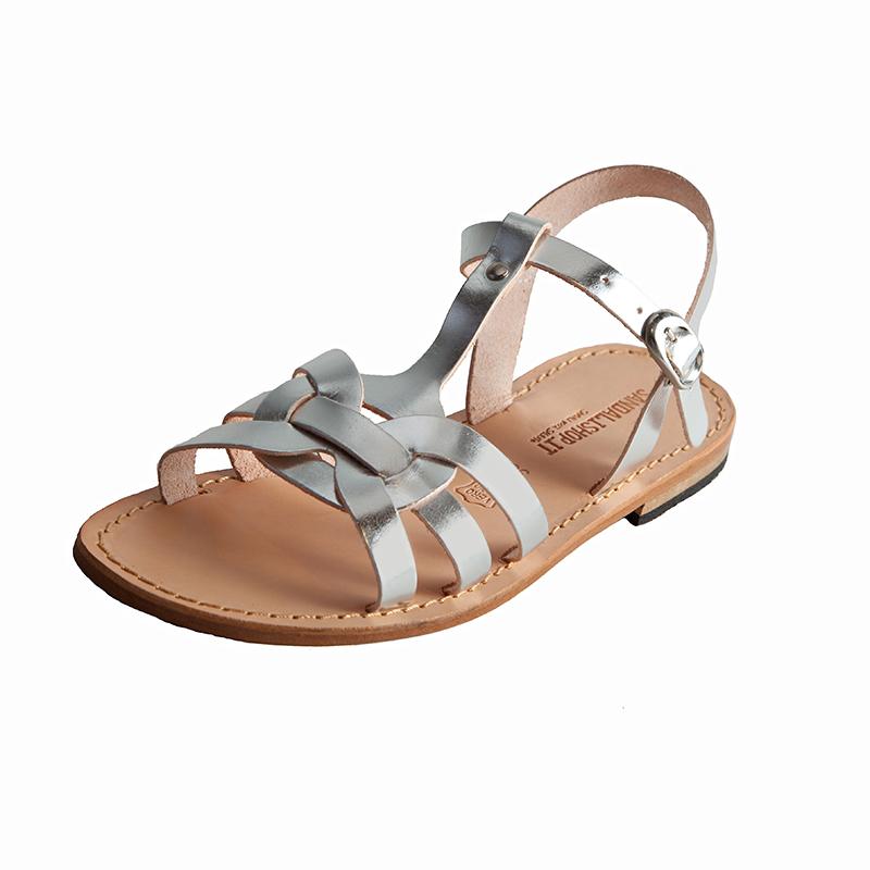 Sandalo chiuso dietro Elegante argento da donna
