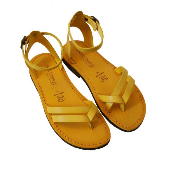 f7819786ab24 Women s Formentera Strappy sandals in Yellow - Sandalishop.it