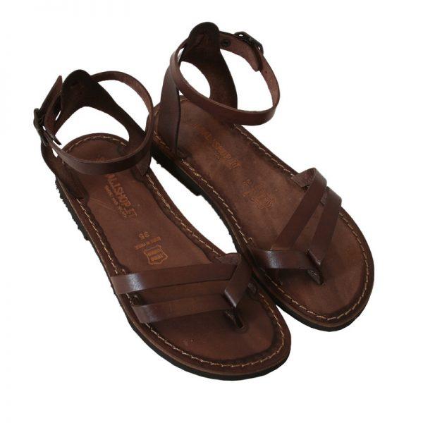 Sandalo chiuso dietro Formentera marrone da donna