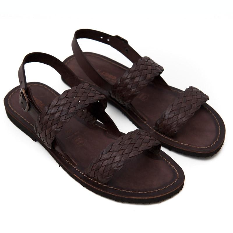 Sandalo chiuso dietro Galatina marrone da donna