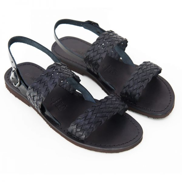 Sandalo chiuso dietro Galatina nero da donna