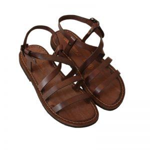 Sandalo chiuso dietro Ibiza marrone da donna