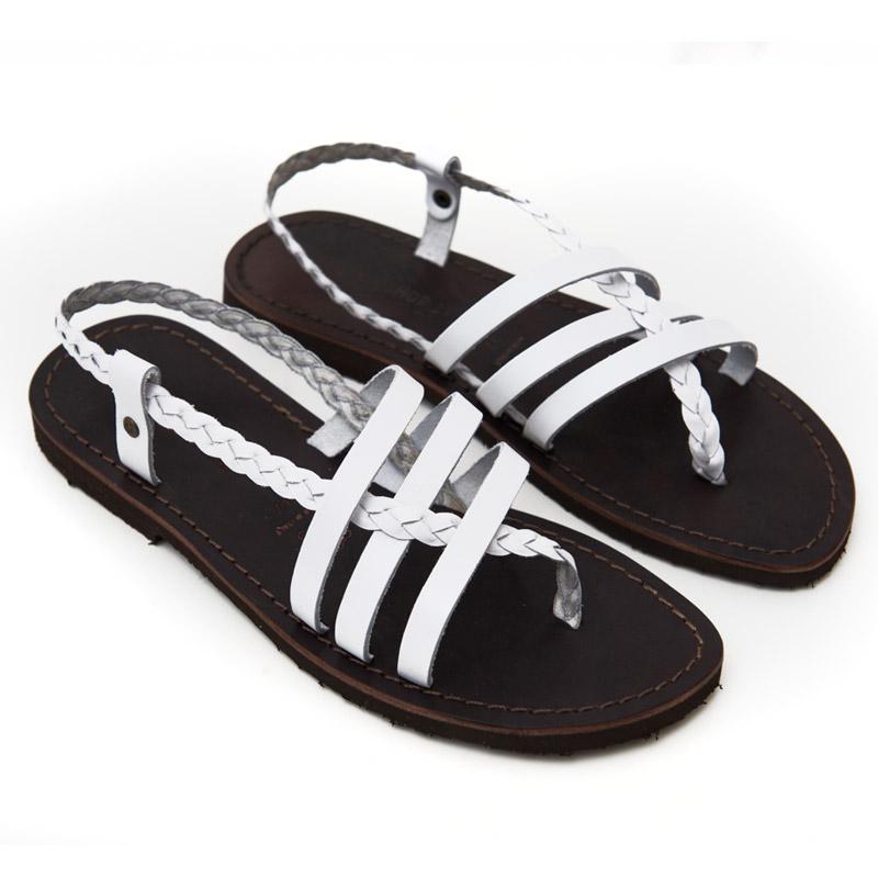 Sandalo chiuso dietro Leuca bianco da donna