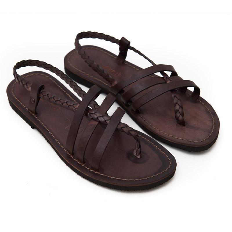 Sandalo chiuso dietro Leuca marrone da donna