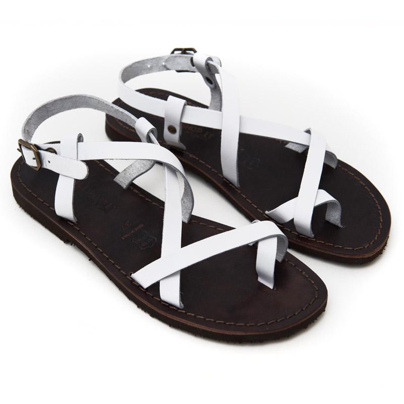 Sandalo chiuso dietro Melpignano bianco da donna