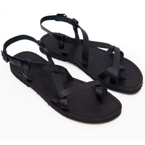 Sandalo chiuso dietro Melpignano nero da donna