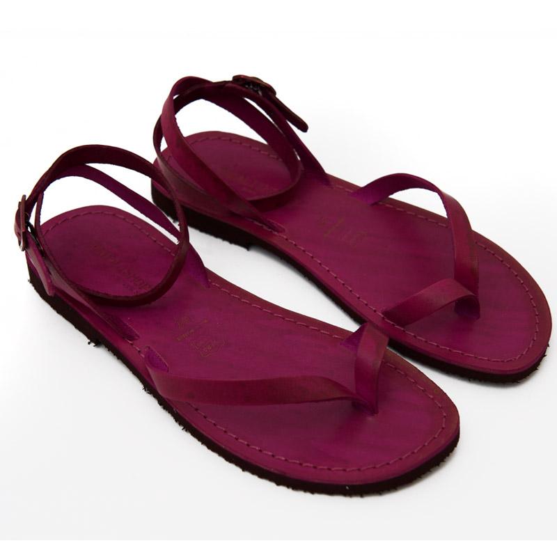 Sandalo chiuso dietro Pescoluse fuxia da donna