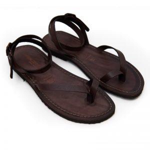 Sandalo chiuso dietro Pescoluse marrone da donna