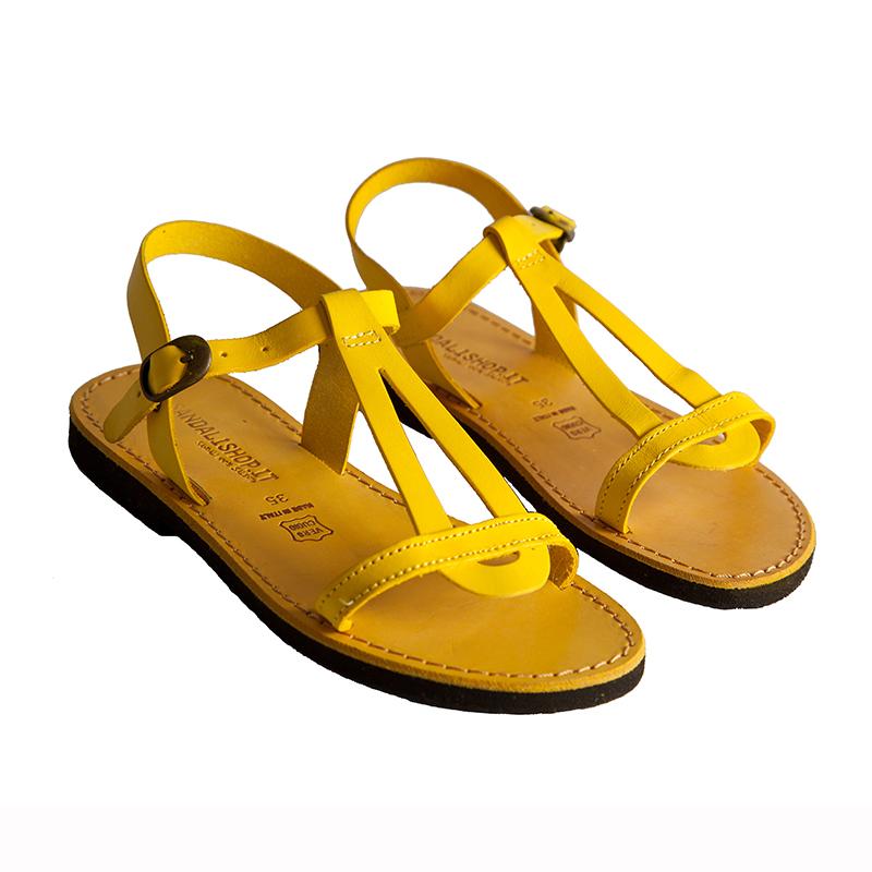 Sandalo chiuso dietro Santorini giallo da donna
