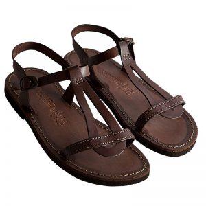 Sandalo chiuso dietro Santorini marrone da donna