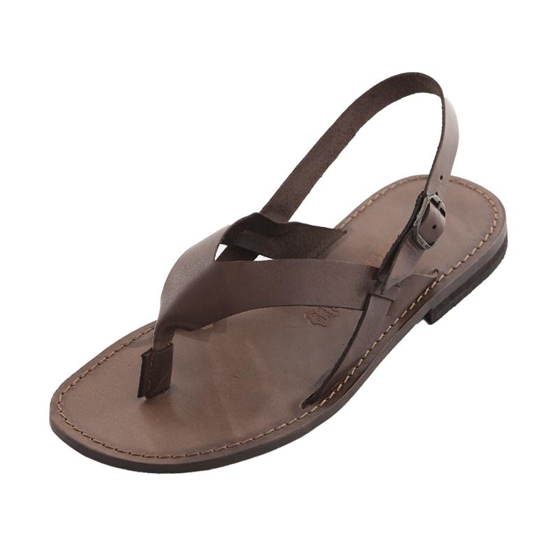 Sandalo chiuso dietro Urlo marrone da uomo