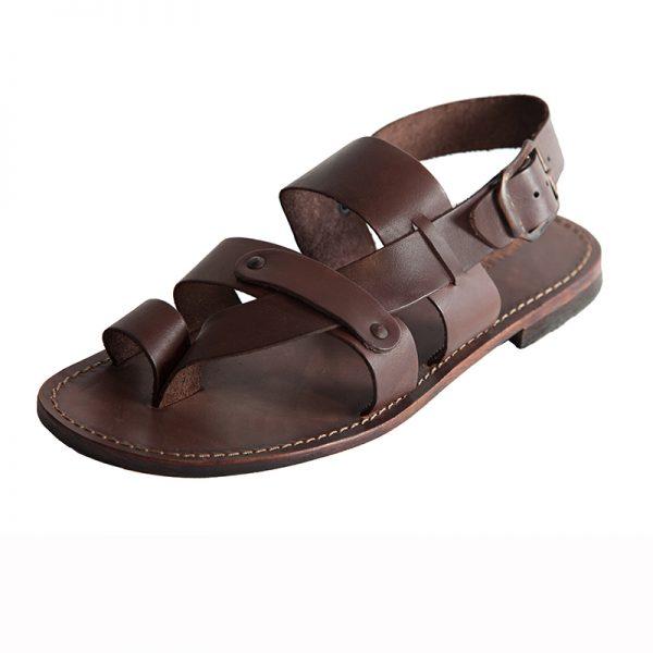 Sandalo chiuso dietro Caffe marrone da uomo