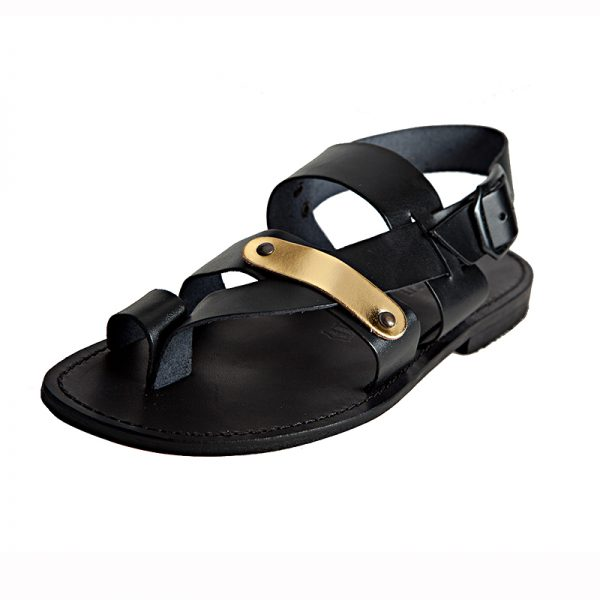 Men's Caffe Strappy sandals in Black