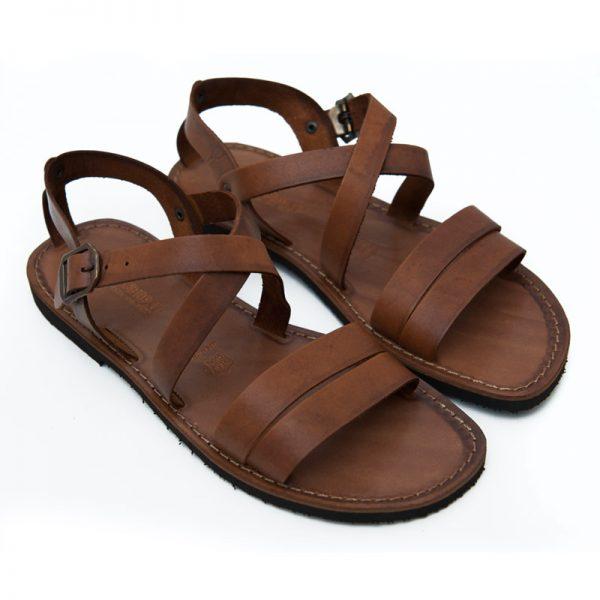 Sandalo chiuso dietro Negramaro cognac da uomo