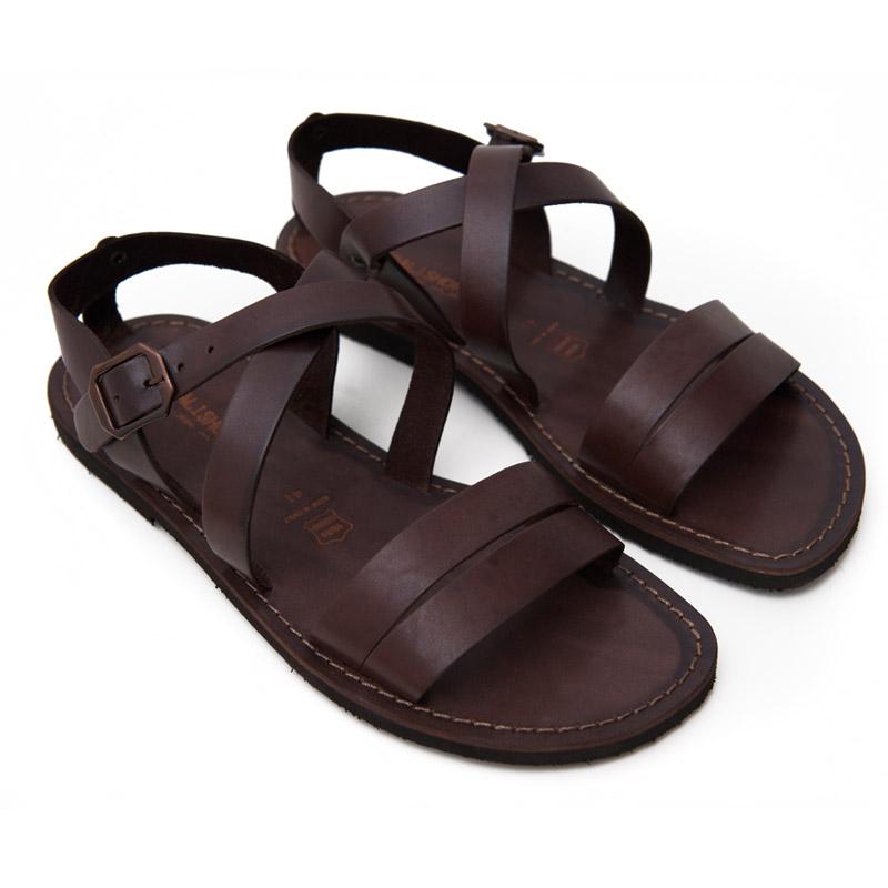 Sandalo chiuso dietro Negramaro marrone da uomo