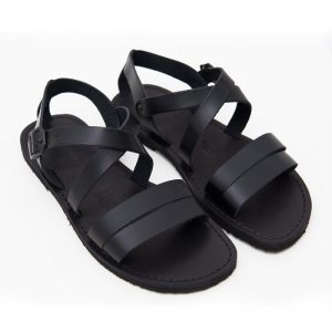 Sandalo chiuso dietro Negramaro nero da uomo